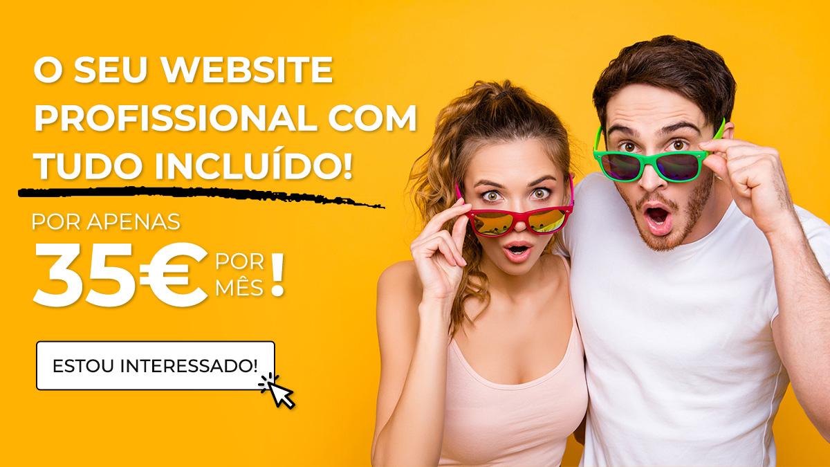 Criação de Website por apenas 35€ por mês!